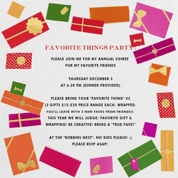 Favorite Things Invitation Paperless Post